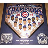 "Chicago Cubs 2016 World Series Team Home Plate 11.5"" x 11.5"""
