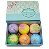 Bath Bombs Ultra Lush Gift Set By NATURAL SPA - 6 XXL All Natural Fizzies With Dead Sea Salt Cocoa And Shea Essential Oils - Best Gift Idea For Birthday, Mom, Girl, Him, Kids - Add To Bath Basket