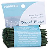 """Wood Floral Picks 3"""" 90/Pkg-Green"""