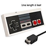 Controller for NES Classic Mini, CBSKY NES Controller with 6 Foot Extend Link Extension Cable For Mini NES Classic Edition