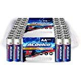 ACDelco AA Batteries, Super Alkaline AA Battery, Bulk Pack, 100 Count