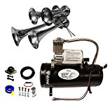 Viking Horns V3305/4008 Loud 149 Decibels Chrome 4 Trumpet Train Air Horn Kit
