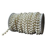 Science Purchase Large Pearls Faux Crystal Beads by the Roll, 10mm, Ivory