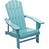 Classic Turquoise Painted Wood Adirondack Chair