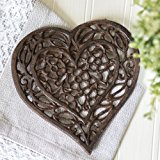 """Cast Iron Heart Trivet 