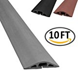 D-2 Rubber Duct Cord Cover - Length: 10FT - Color: Gray Cable Protector