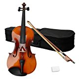 Acoustic Viola with Case, Bow, Rosin for Beginners Student Viola Starter Kit (15 Inch, Satin Antique)