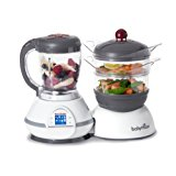 Babymoov Nutribaby - 5 in 1 Baby Food Maker with Steam Cooker, Blend & Puree, Warmer, Defroster, Sterilizer (Cherry)