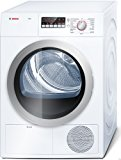 """Bosch 500 Series WTB86201UC 24"""" Ventless Electric Condensation Dryer with 4 cu. ft. Capacity, LED Display, Reversible Door in White"""
