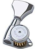 Hipshot 6GLO Grip Lock Locking Guitar Tuning Machine Set Chrome