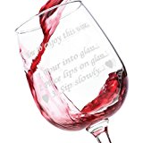 Wine Glass - For Him & Her - 13 Ounce Stemmed Wine Glass (How To Enjoy My Love...)