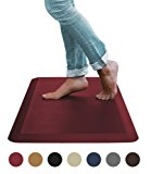 """Sky Mat, Comfort Anti Fatigue Mat, Perfect for Kitchens and Standing Desks, 20 x 39 x 3/4"""" (7 Colors , 3 sizes) (Red)"""