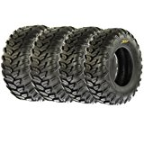 SunF Radial A/T Sport ATV UTV Tires 26x9R-12 & 26x11R-12 6 PR A043 (Full set of 4, Front & Rear)