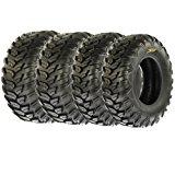 SunF Radial A/T Sport ATV UTV Tires 26x9R-12 & 26x11R-12 6 PR A043 (Full set of 4, Front & Rear)