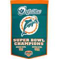 Winning Streak Sports Miami Dolphins Wool Dynasty Banner