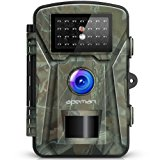 """【Upgraded】APEMAN Trail Camera 12MP 1080P 2.4"""" LCD Game&Hunting Camera with 940nm Upgrading IR LEDs Night Vision up to 65ft/20m IP66 Spray Water Protected Design"""