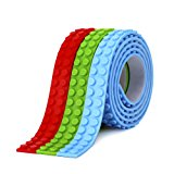 SuSenGo 3 Rolls Red Green Blue RGB 9.8Feet/3meter Loops Building Block Tape Roll Self-Adhesive