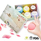 Bath Bombs Gift Set,6 Large Organic Spa Fizzies Kit, USA made Gifts For Women, Mom, Girls, Teens