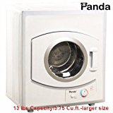 Panda Portable Dryer 3.75 cu.ft 110v Compact Apartment Size Stainless Steel Drum See Through Window-Larger Size