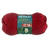 Bernat Softee Chunky Yarn, Berry Red, Single Ball