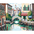 Dimensions Paint by Number Kit; 20 x 16; Scenic Canal
