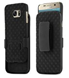 Galaxy S7 Case, Aduro Shell & Holster COMBO Case Super Slim Shell Case w/ Built-In Kickstand + Swivel Belt Clip Holster for Samsung Galaxy S7