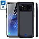 Galaxy S8 Battery Case, 5000mAh Rechargeable External Battery Portable Charger Protective Charging Case Juice Pack Power Bank Cover for Samsung Galaxy S8 (2017)