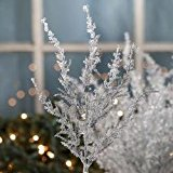 Factory Direct Craft Package of 12 - Artificial Frozen Icy Pine Christmas Holiday Floral Stems