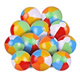 Inflatable Beach Ball,SYZ Pool Party Balls Rainbow Clorlor Pool Balls for Kids Water Fun Play in Summer 12 Inches (12 PACK)