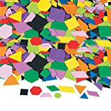 Fun Express Geometric Self-Adhesive Foam Shapes - 1000 Pieces
