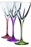 Fusion Crystal Multicolor Cordial Liquor Set, 6-Piece