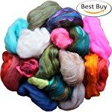 Assorted Wool Roving Ends & Merino Top Waste - Bulk Fiber for Felting, Spinning & Blending