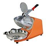 ZENY Electric Ice Shaver 300W 1400r/min w/ Stainless Steel Blade Shaved Ice Snow Cone Maker Kitchen Machine (Orange)