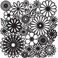 "Crafter's Workshop Template 12""X12"" - Flower Frenzy"