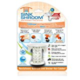 SinkShroom The Revolutionary Sink Drain Protector Hair Catcher/Strainer/Snare, White