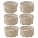 Mrs. Anderson's Baking Souffle, Ceramic Earthenware, Wheat, 3.75-Inch, 6-Ounce Capacity