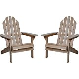 Fir Wood Unfinished Adirondack Chairs - Twin Pack