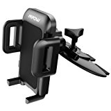 Mpow Car Phone Mount,CD Slot Car Phone Holder Universal Car Cradle Mount with Three-Side Grips and One-Touch Design for iPhone 8/8Plus/7/7Plus/6s/6P/5S, Galaxy S5/S6/S7/S8, Google, LG, Huawei and More