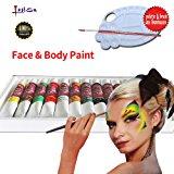 Lasten Body Paint, Face Paint, Make-up Paint kits, Face Painting Kits, Art Paint Kits , Face Painting Supplies, Perfect Paint Set with 12 Different Colors
