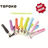 Topoko Stainless Steel One Hand Gripper Clip for Hot and Cold Plate, Bowl, Dish, Tray. Perfect Accessory for Retrieve from Instant Pot, Microwave, Oven, Pot. Retriever Tongs Random Two Colors Pack