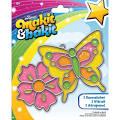 Colorbok Makit Amp Bakit Suncatcher Kit-Butterfly Amp Flower