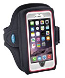 Armband for iPhone 8 7 6s 6 with OtterBox Defender / Commuter Case – Fits Galaxy S6 S7 S8 and iPhone X with LifeProof / Large Case - For Running & Working Out - Sweat-Resistant [Black]