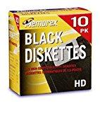 "Memorex MF2HD 3.5"" PC-Formatted High-Density Floppy Disks (Black, 10-Pack) (Discontinued by Manufacturer)"