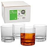 Unbreakable Whiskey Glasses - Set of 4 Premium Whisky Scotch Glasses-100% Tritan - Shatterproof, Reusable, Dishwasher Safe by D'Eco