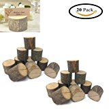 Wedding Place Wooden Card Holders Table Number Stands for Home Party Decorations. Pack of 20