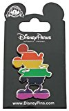 Disney Pin - Mickey Mouse Silhouette - Pride Colors