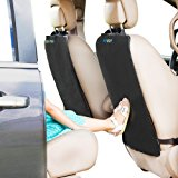 Kick Mats - 2 Pack - Premium Quality Car Seat Protector best waterproof protection of your upholstery from Dirt, Mud, Scratches - Extra Large Car Seat Back Covers by Enovoe