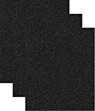 Siser Glitter Heat Transfer Vinyl HTV for T-Shirts 10 by 12 Inches (1 Foot) Sheets 3 Pack (Black)