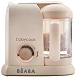 BEABA Babycook 4 in 1 Steam Cooker & Blender and Dishwasher Safe, 4.5 Cups (Rose Gold)
