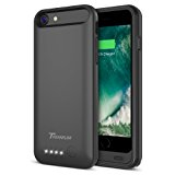 """iPhone 8 / 7 Battery Case, Trianium Atomic Pro 3200mAh Extended iPhone 7 8 Battery Portable Charger for iPhone 7, iPhone 8 (4.7"""") [Black] Power Charging Case Pack Juice Bank [Apple Certified Part]"""